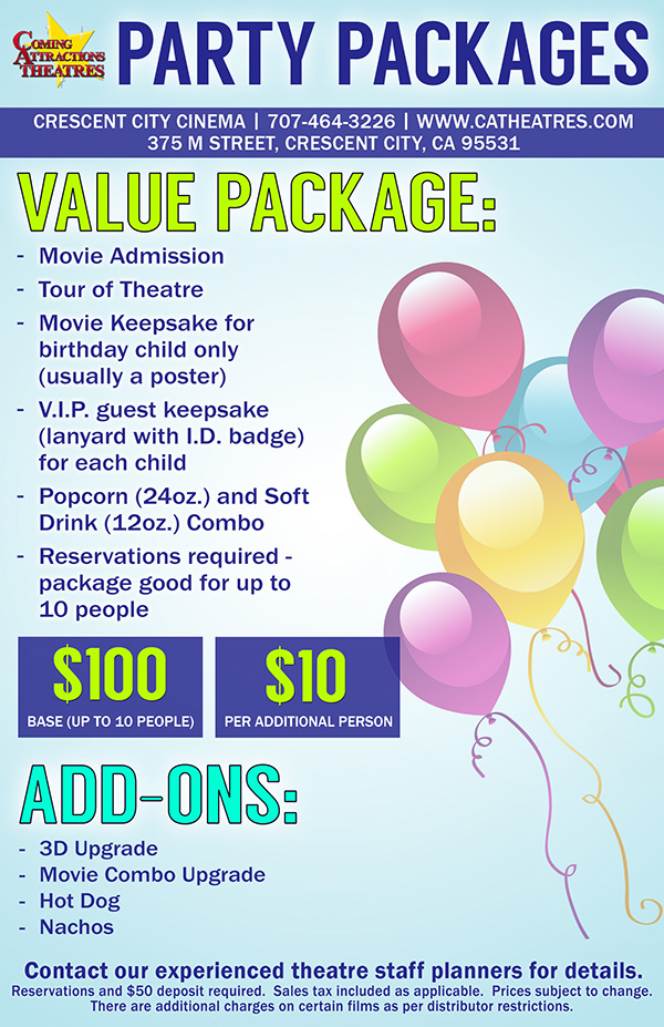 Party Package Crescent City Cinema