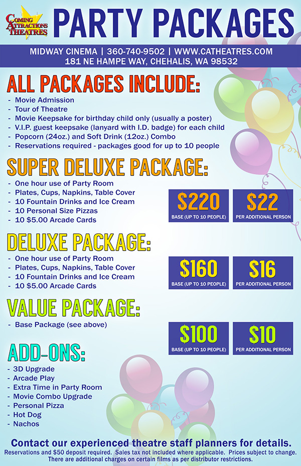 Party Package Midway Cinema